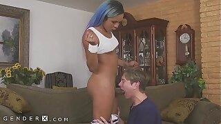 GenderX - Guy Swallows Mara Nova's Huge Trans Dick