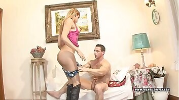 Pretty transsexual offers mouth and ass Vol. 24